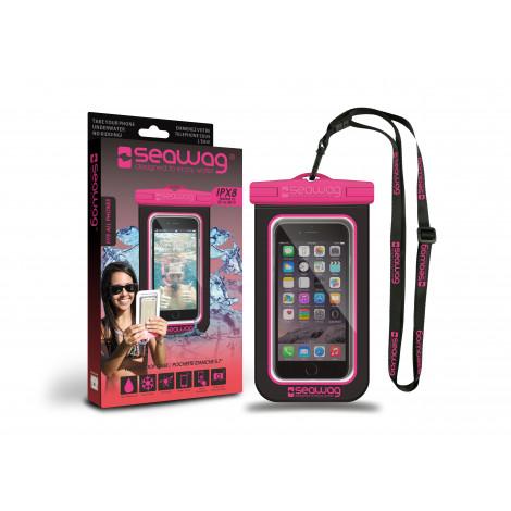"""Seawag waterdicht telefoonhoesje Pink & Black 5,7"""""""