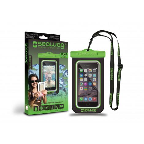 """Seawag waterdicht telefoonhoesje Green & Black 5,7"""""""