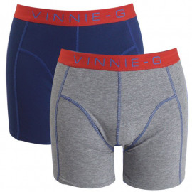 Vinnie-G boxershorts Flame Blue Grey