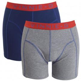 Vinnie-G boxershorts Flame Blue Grey