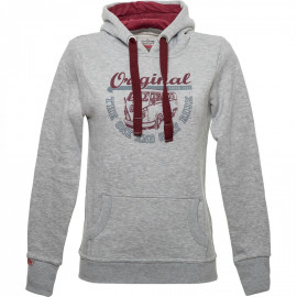 Van One Classic Cars Original Ride dames hoodie Light Grey Bordeaux grey