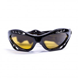 Ocean Cumbuco Shiny Black/Yellow Watersport Zonnebril