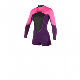 Mystic Brand 3/2 Backzip Purple Longarm Shorty wetsuit 2019