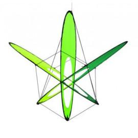 Prism EO Atom Citrus Eenlijns vlieger
