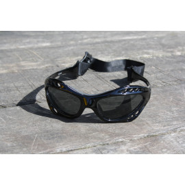 Glogglz Rayz zwart watersport zonnebril