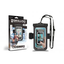 "Seawag waterdicht telefoonhoesje Black & white 5,7"" + Armband"