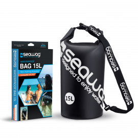 Seawag Dry Bag 15 liter Black-white