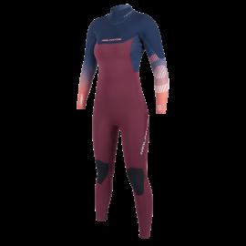Neilpryde Serene Dames Fullsuit Wetsuit 5/4/3 Backzip Navy/Blood Red 2020