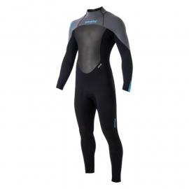 Mystic Star 5/4 GBS fullsuit/Back zip Wetsuit  Black/ Grey